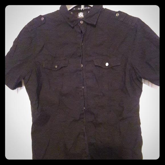 Rock & Republic Other - Rock & Republic - black short-sleeved button down